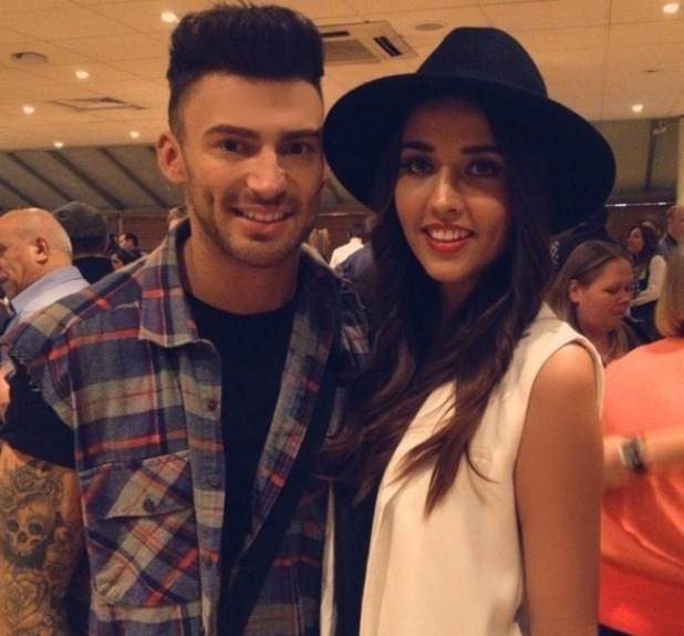 Jake Quickenden with now ex girlfriend Victoria Kerrow backstage at The X Factor - 20 November 2014