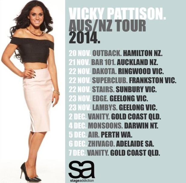 Vicky Pattison, Australian and New Zealand Tour November