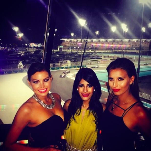 TOWIE's Jessica Wright, Jasmin Walia and Ferne McCann in Abu Dhabi, 22 November 2014