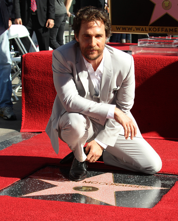 Matthew McConaughey honored with a star on the Hollywood Walk of Fame - 17 November 2014.