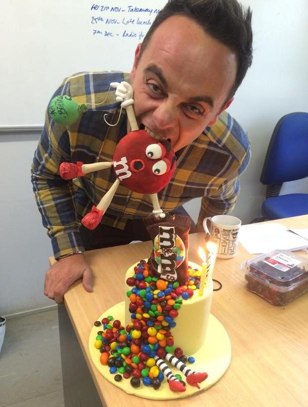 Anthony McPartlin celebrates 39th birthday - 17 November 2014.