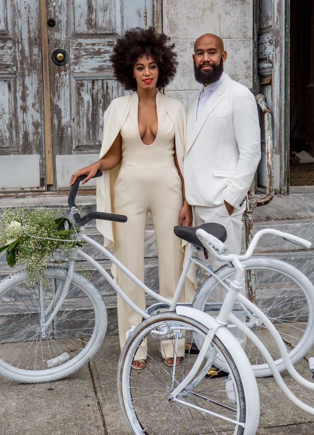 Solange Knowles and Alan Ferguson arrive at their wedding ceremony in New Orleans, America - 16 November 2014