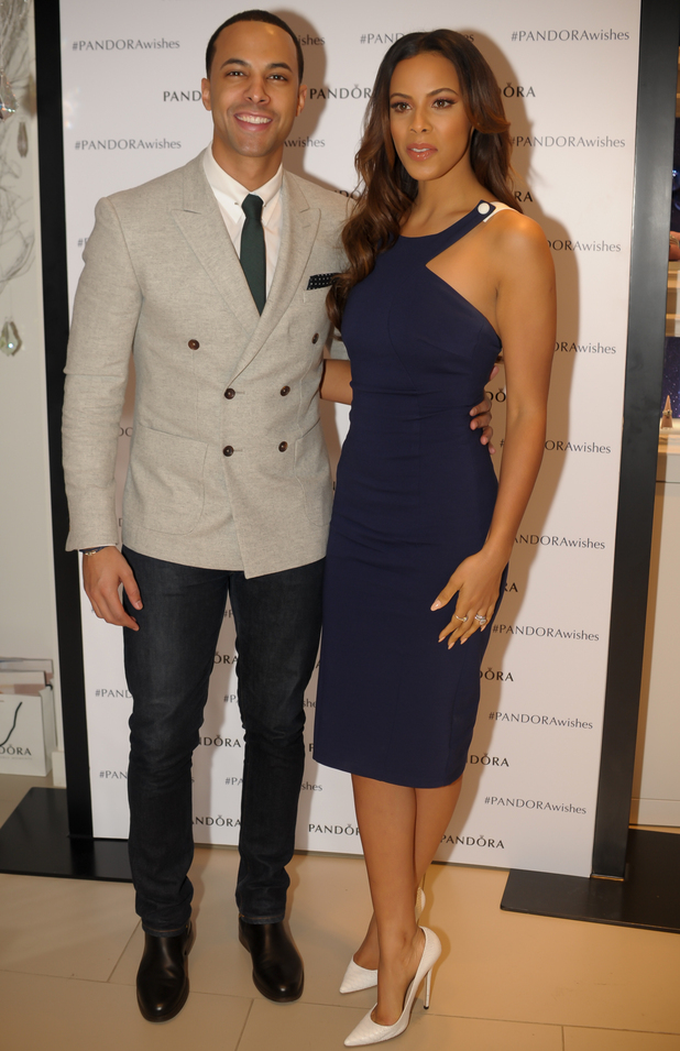 Marvin and Rochelle Humes attending a Pandora jewellers event in Birmingham Bullring Centre 11/19/2014