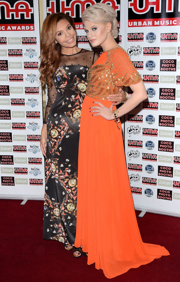 Chloe-Jasmine Whichello and Stephanie Nala attend Urban Music Awards 2014, London 15 November