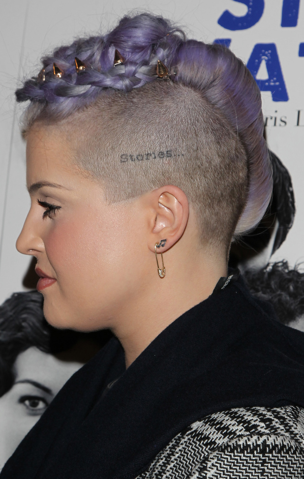 Kelly Osbourne shows off her spikey hairstyle at the Beside Still Waters film screening in Los Angeles, America - 16 November 2014