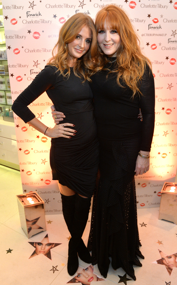 Millie Mackintosh and Charlotte Tilbury at the launch of Charlotte's Backstage Beauty Booth in Fenwick, London - 19 November 2014