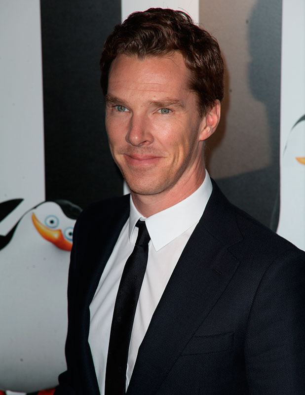 Benedict Cumberbatch, New York premiere of 'Penguins of Madagascar' at Winter Village at Bryant Park Ice Rink, 16 November 2014