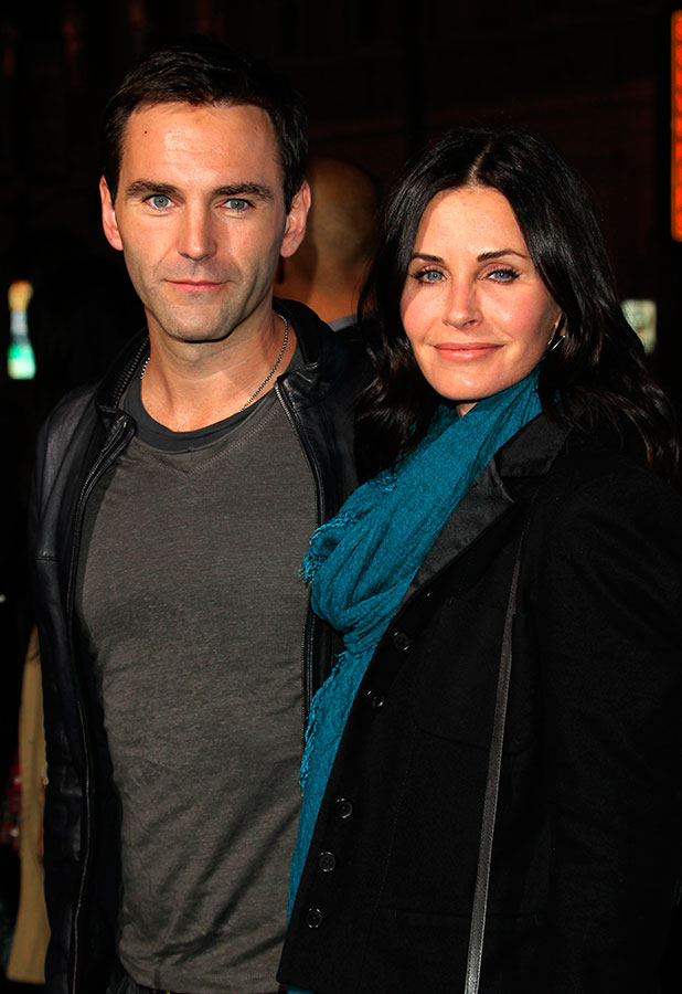 Johnny McDaid and Courteney Cox, Los Angeles premiere of 'Horrible Bosses 2' at TCL Chinese Theatre - Arrivals, 20 November 2014