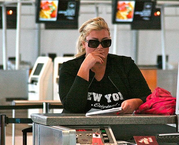 Gemma Collins at Brisbane International Airport after quitting I'm A Celebrity, 2014