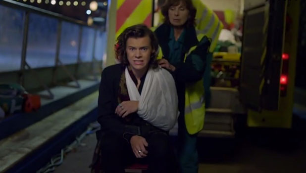 One Direction's Night Changes video screengrab: Harry Styles