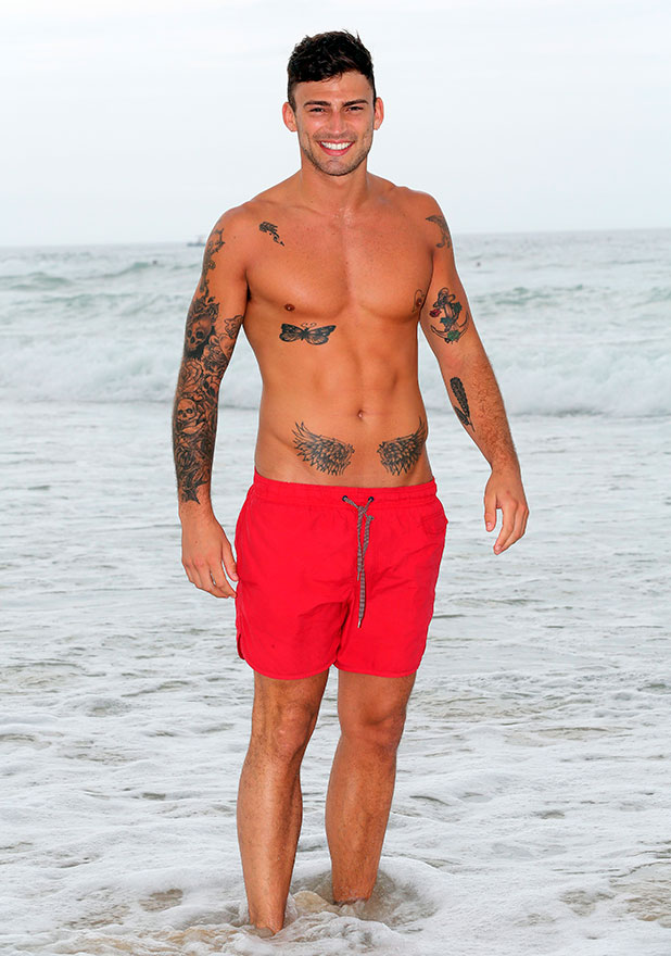 Jake Quickenden on the beach at Surfers Paradise, Queensland, Australia - 19 Nov 2014