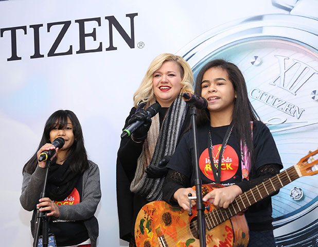 Kelly Clarkson attends Citizen Watch Company Global Flagship Store Opening at Citizen Watch Company Global Flagship Store on November 19, 2014 in New York City.
