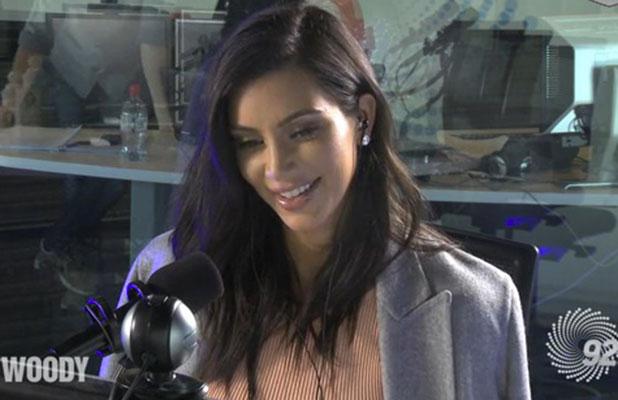 Kim Kardashian appears on Australian radio's Scoopla, 19 November 2014