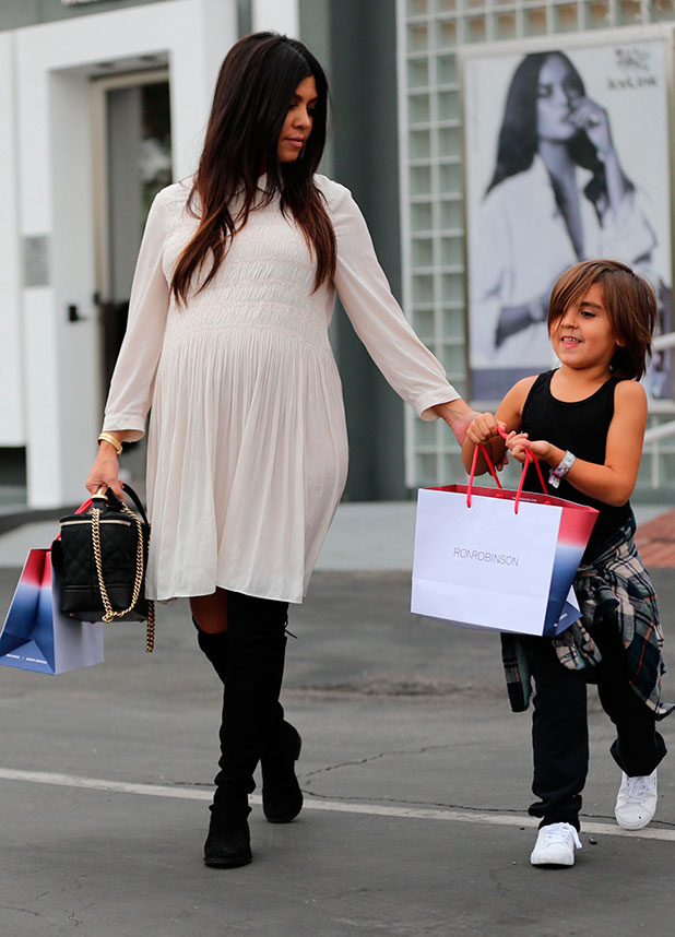 Kourtney Kardashian shops at Fred Segal with her son, Mason, 20 November 2014