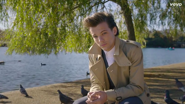 One Direction's Night Changes video screengrab: Louis Tomlinson