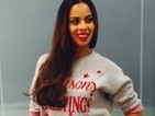 Rochelle Humes gets into the holiday spirit with cute festive jumper