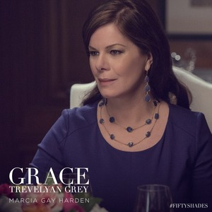 Fifty Shades of Grey - first glimpse of  Marcia Gay Harden (Dr. Grace Trevelyan Grey). 26 November 2014.