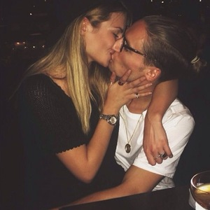 Oliver Proudlock kisses new girlfriend Emma Connolly 26 November