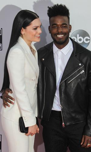 Jessie J and Luke James make first red carpet debut, American Music Awards, LA 23 November