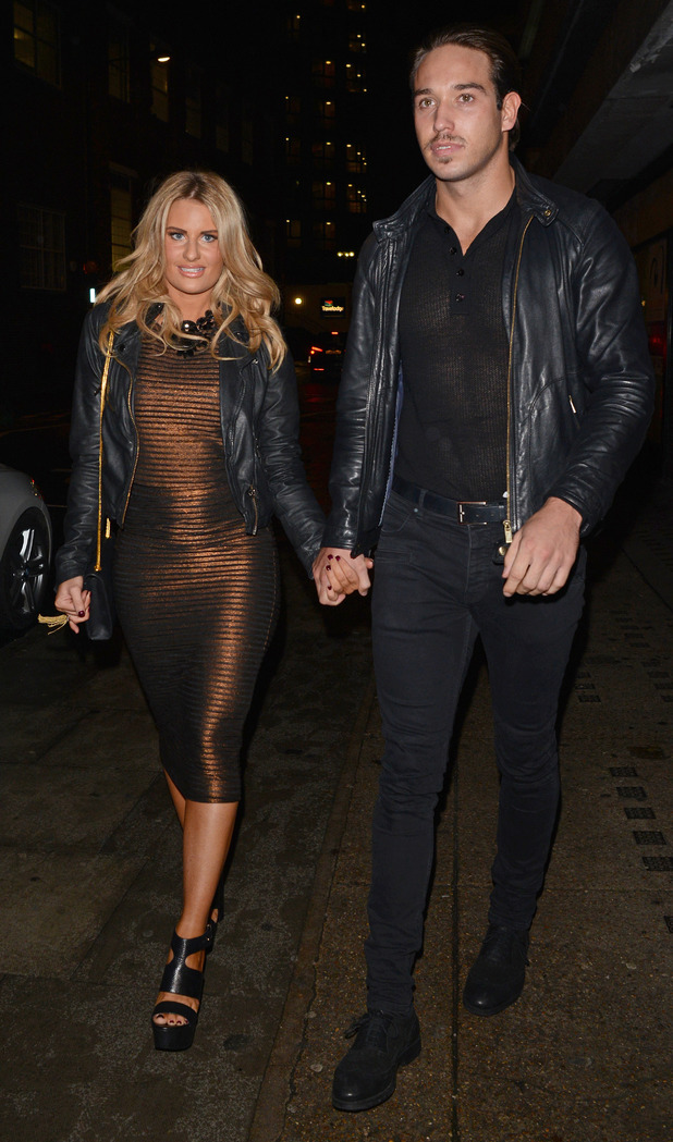 Danielle Armstrong and James Lock head out in London, England - 25 November 2014