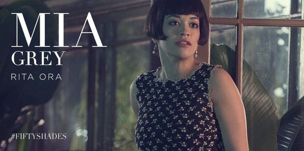 Fifty Shades of Grey - first glimpse of Rita Ora as Mia Grey. 26 November 2014.