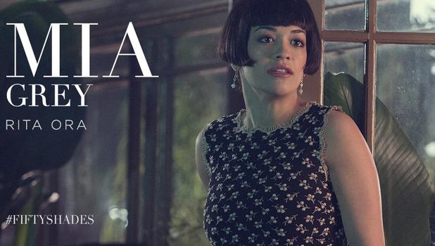 Fifty Shades of Grey - first glimpse of Rita Ora as Mia Grey. 26 November 2014.