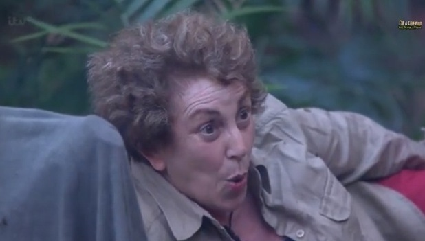 I'm A Celebrity... Get Me Out Of Here! Edwina Currie argues with Kendra. Aired: 24 November 2014.