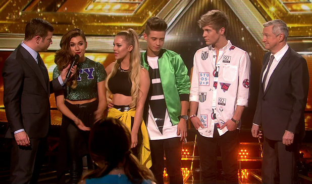 Only The Young is voted off after the judges vote on 'The X Factor - Results', Shown on ITV1 HD - 22 November 2014.