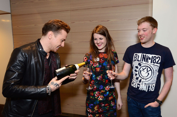 McBusted help fan to propose at Tourplay screening, London 25 November