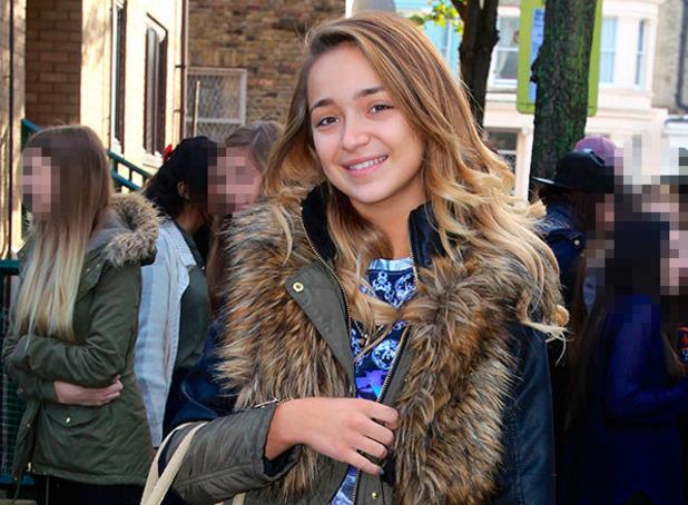 Lauren Platt outside X Factor rehearsals, London 24 November