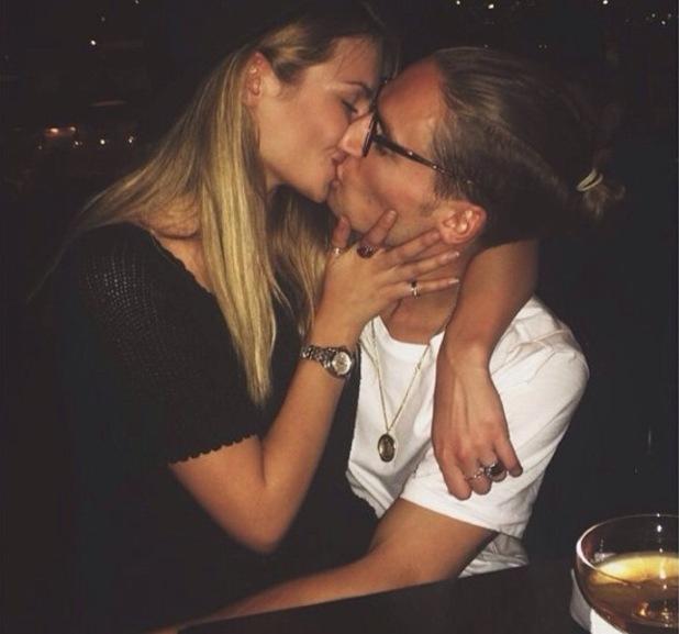 Oliver Proudlock kisses new girlfriend Emma Connolly 26 November
