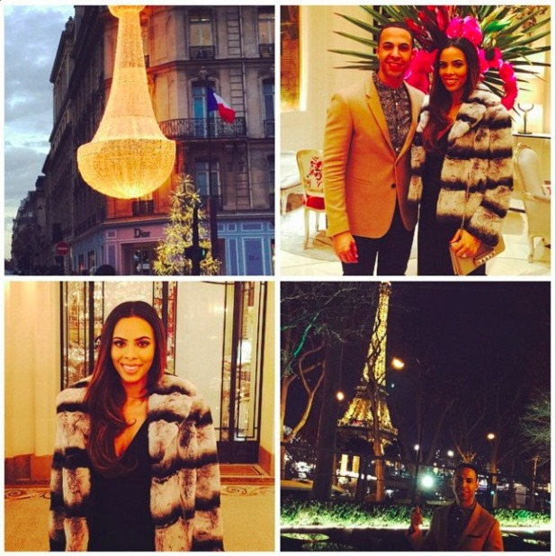 Rochelle and Marvin Humes enjoy romantic getaway to Paris, 28 November 2014