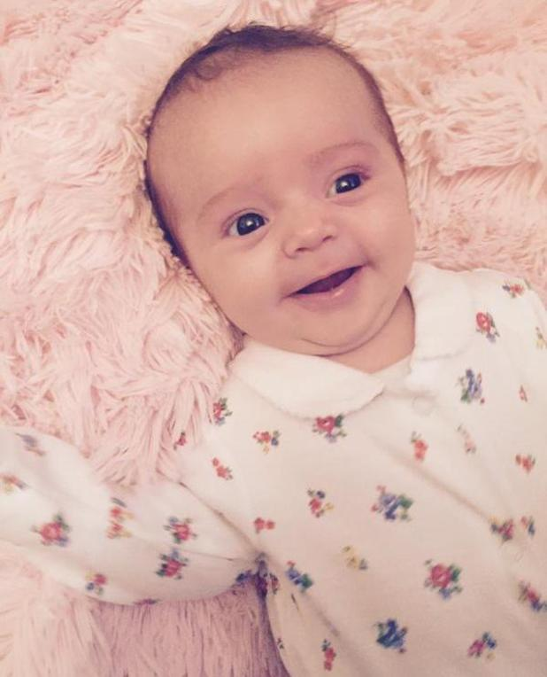 Sam Bailey shares adorable photos of her baby daughter Miley - 26 September 2014.