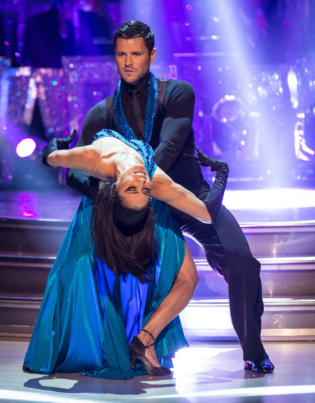Mark Wright and Karen Hauer during Strictly Come Dancing live show - 22 November 2014.