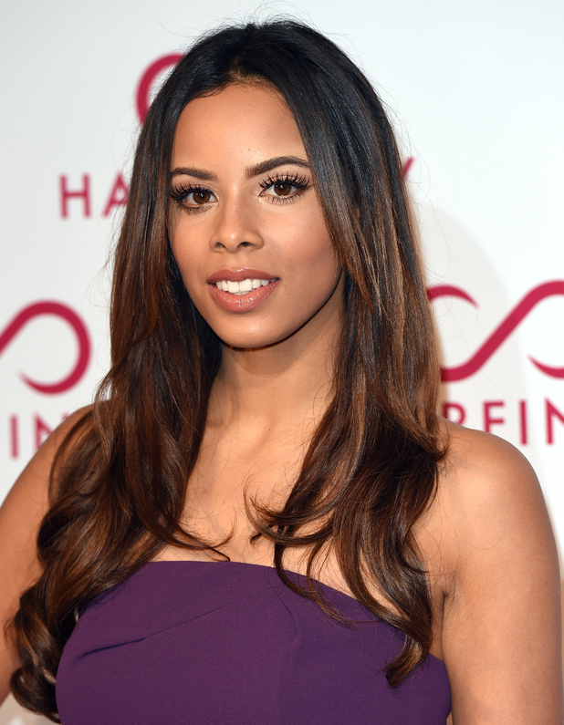 Rochelle Humes attends the Hairfinity UK Launch Party on November 8, 2014 in London, England.