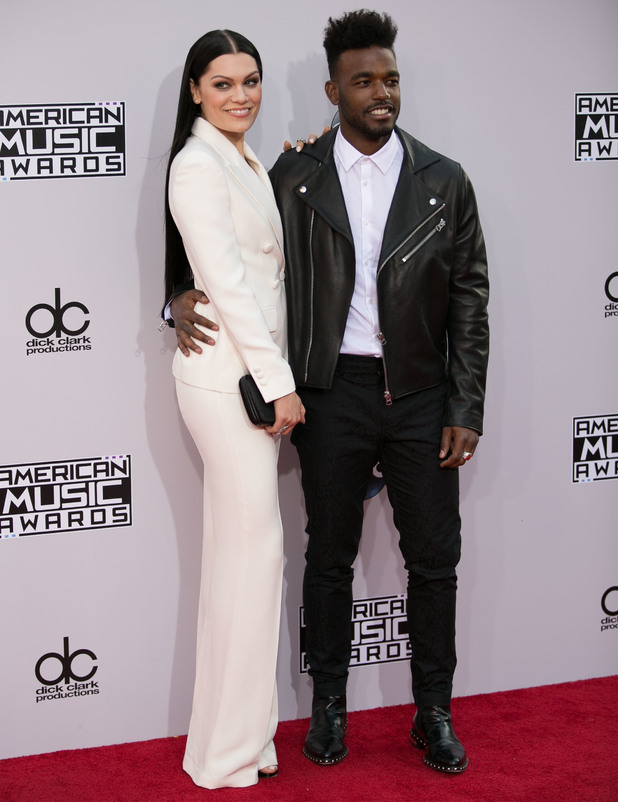 Jessie J and Luke James attend 2014 American Music Awards - Arrivals at Nokia Theatre L.A. Live, 23 November 2014