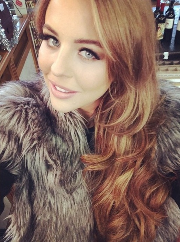 Lydia Bright shows off her new copper hair colour in an Instagram picture - 26 November 2014