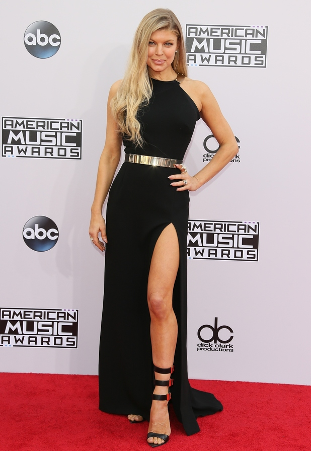 Fergie on red carpet at the American Music Awards, LA 23 November
