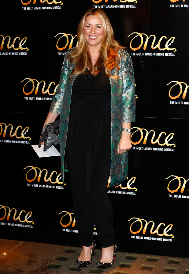 Claire Sweeney attends the press night of 'Once' as Ronan Keating joins the cast at Phoenix Theatre on November 25, 2014 in London, England.