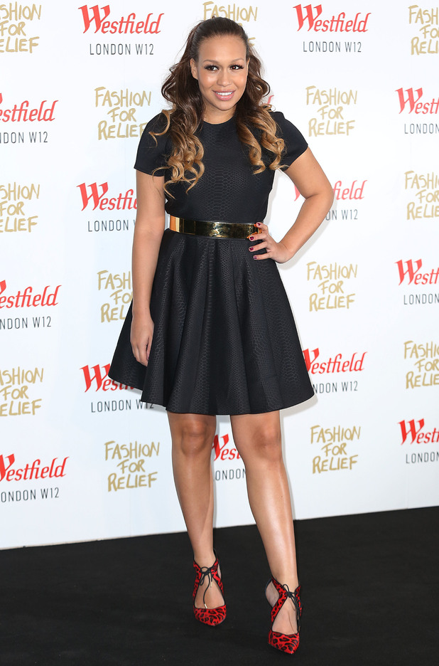 Rebecca Ferguson at Naomi Campbell's Fashion For Relief Pop-Up Shop launch party at Westfield London - 27 November.