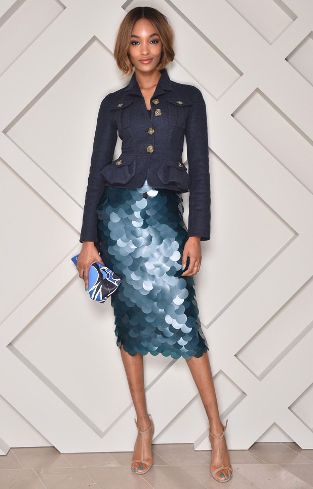 Jourdan Dunn attends the opening of a new Burberry store in Tokyo, Japan - 27 November 2014