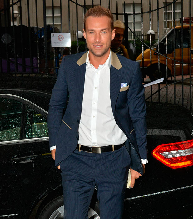 Calum Best looking at Today FM for The Ray Darcy Show, Ireland, 2013