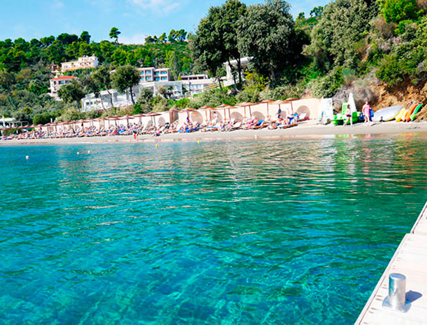 Greece, Skiathos: Private beach