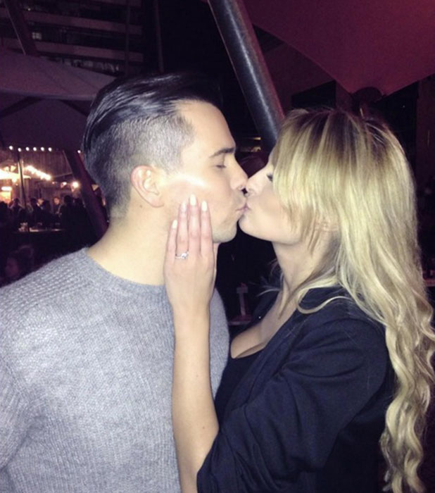 Rhian Sugden and Oliver Mellor are engaged, 23 November 2014