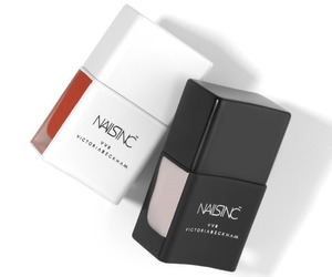 Nails Inc. by Victoria Beckham nail polishes in Judo Red and Bamboo White