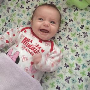 Sam Bailey shares new pictures of baby Miley smiling - 2 December 2014