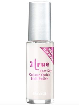 2True Fast Dry Colour Quick Nail Polish in White