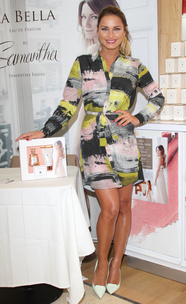 Sam Faiers attends a signing for her perfume gift set in Corby, England - 29 November 2014