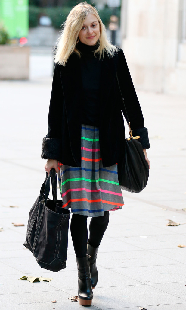 Fearne Cotton on way to Radio 1, 3/12/14
