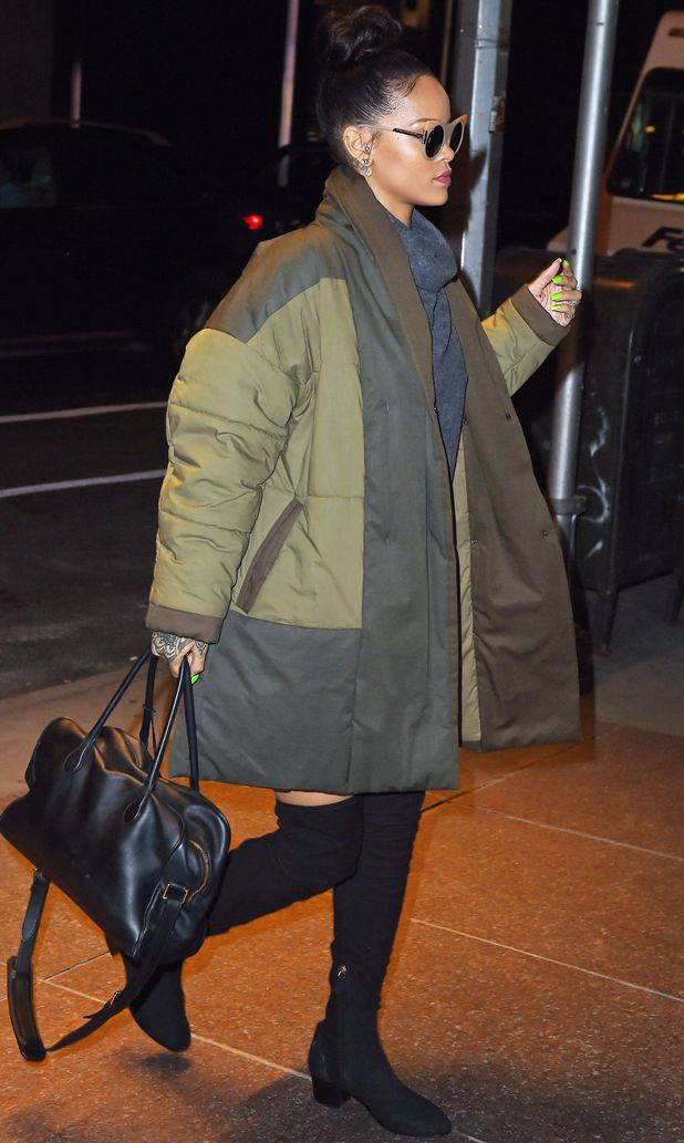 Rihanna in New York, 4/12/14